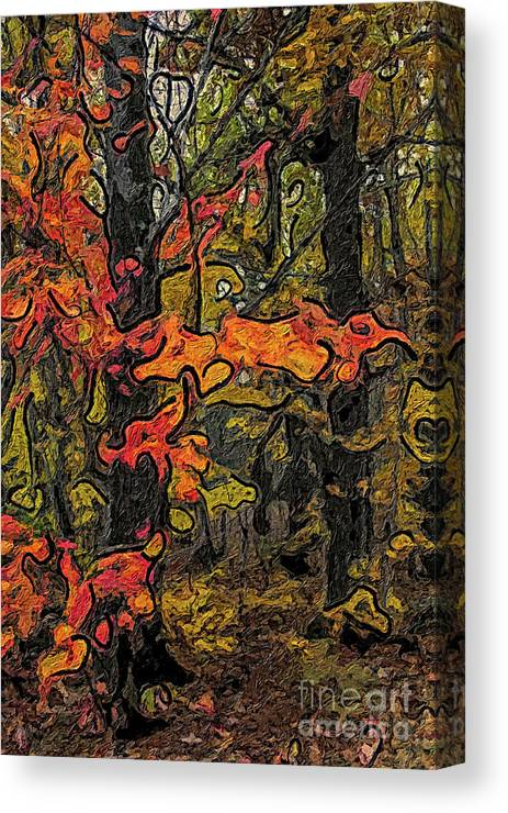 Forest Canvas Print featuring the painting A Time In The Woods by C L Lassila