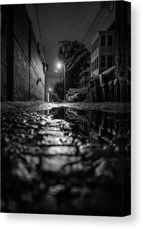Alley way in The Museum District after a storm. Recently sold as a canvas.