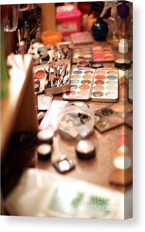 Makeup Canvas Print featuring the photograph Behind The Scenes, Make-up by Anna Jurkovska