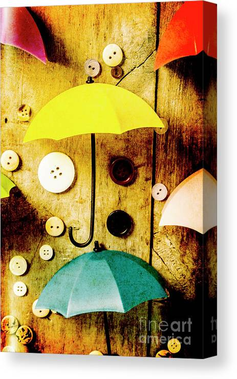 Button Canvas Print featuring the photograph Button Storm by Jorgo Photography - Wall Art Gallery