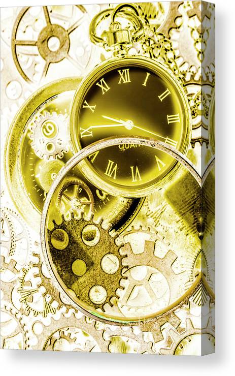 Victorian Canvas Print featuring the photograph Clock Watches by Jorgo Photography - Wall Art Gallery