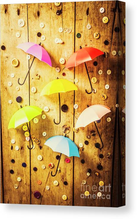 Still Life Canvas Print featuring the photograph In Rainy Fashion by Jorgo Photography - Wall Art Gallery