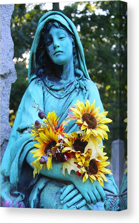 Statue Of Mary Canvas Print featuring the photograph Mary, Mother Of Jesus by Michael Rucker