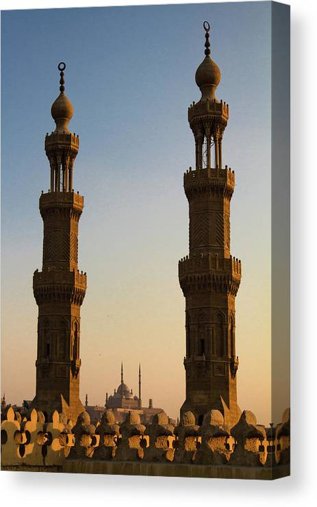 Downtown District Canvas Print featuring the photograph Minarets by Matteo Allegro