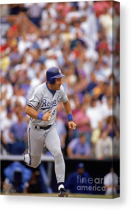 American League Baseball Canvas Print featuring the photograph Mlb Photos Archive by Victor Baldizon