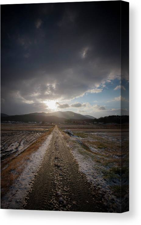 Road Of Winter Morning Canvas Print Canvas Art By Photoarakicom