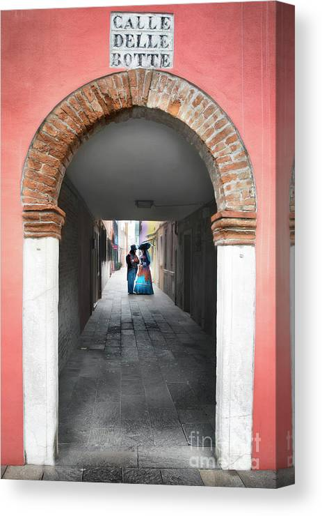 Carnival Canvas Print featuring the photograph Romance In Burano by Linda D Lester