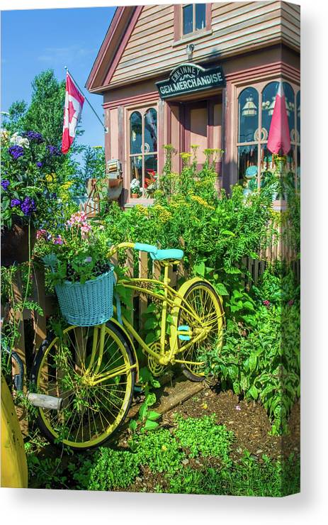 Nova Scotia Canvas Print featuring the photograph Scenic Garden And Antiques Store by David Smith