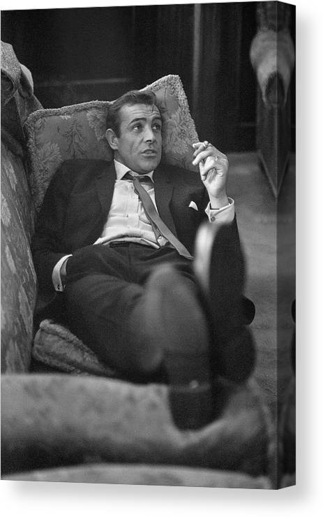 Smoking Canvas Print featuring the photograph Sexy Scot by Bob Haswell