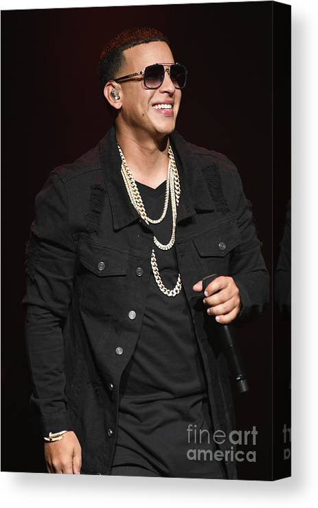 Daddy Yankee Canvas Print featuring the photograph Singer Daddy Yankee by Concert Photos