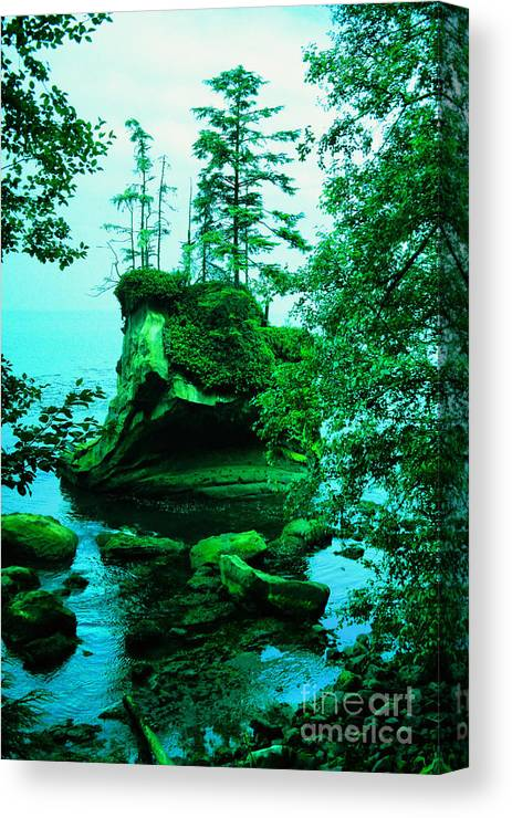 Island Canvas Print featuring the photograph Tiny Island by Jeff Swan