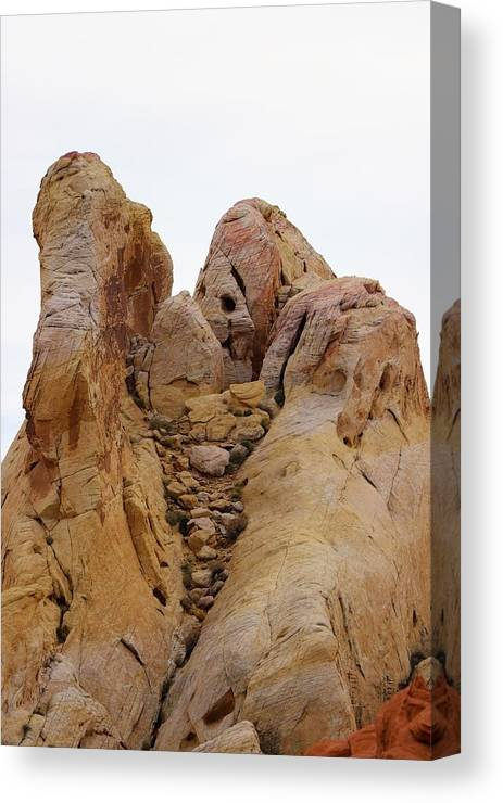 Valley Of Fire State Park Canvas Print featuring the photograph White Dome Woman by Sagittarius Viking