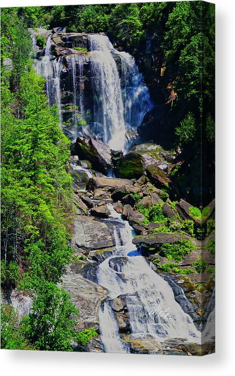 Whitewater Falls Canvas Print featuring the photograph Whitewater Falls Top by Meta Gatschenberger