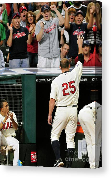 Crowd Canvas Print featuring the photograph Jim Thome by Jason Miller