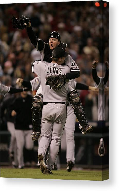 Celebration Canvas Print featuring the photograph A. J. Pierzynski by Rich Pilling