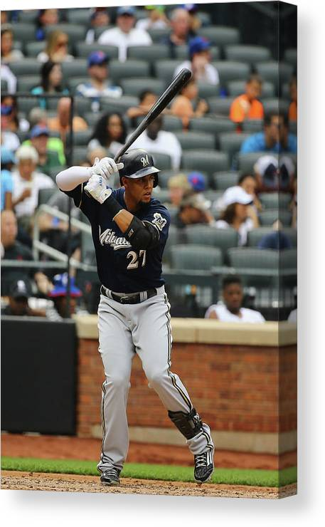 People Canvas Print featuring the photograph Carlos Gomez by Al Bello