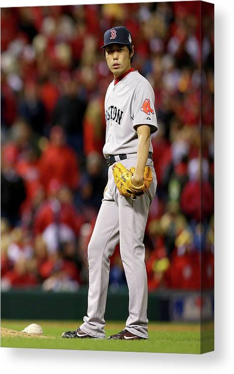 Ninth Inning Canvas Print featuring the photograph Koji Uehara by Ronald Martinez