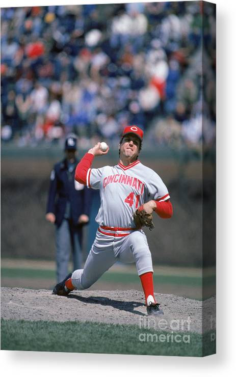 Tom Seaver Canvas Print featuring the photograph Tom York by Rich Pilling