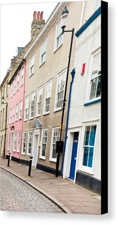 Apartment Canvas Print featuring the photograph Town Houses by Tom Gowanlock