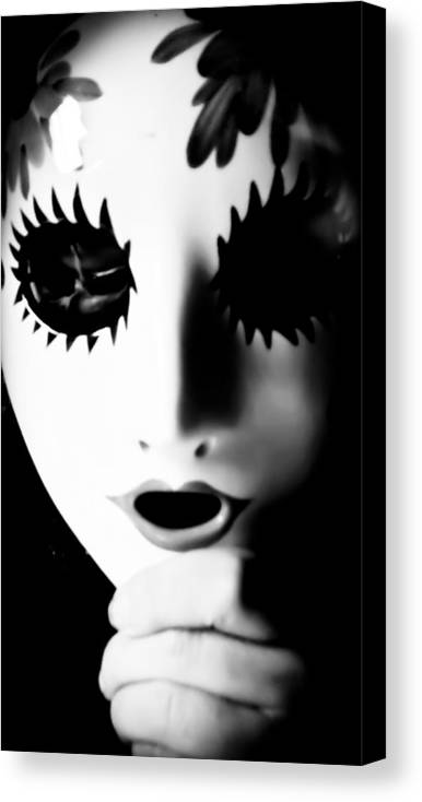 Black Canvas Print featuring the photograph Mask by Ian MacQueen