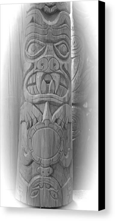 Totem Canvas Print featuring the photograph Bear Turtle Frog Totem by Eric Singleton