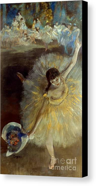 1877 Canvas Print featuring the photograph Degas: Arabesque, 1876-77 by Granger