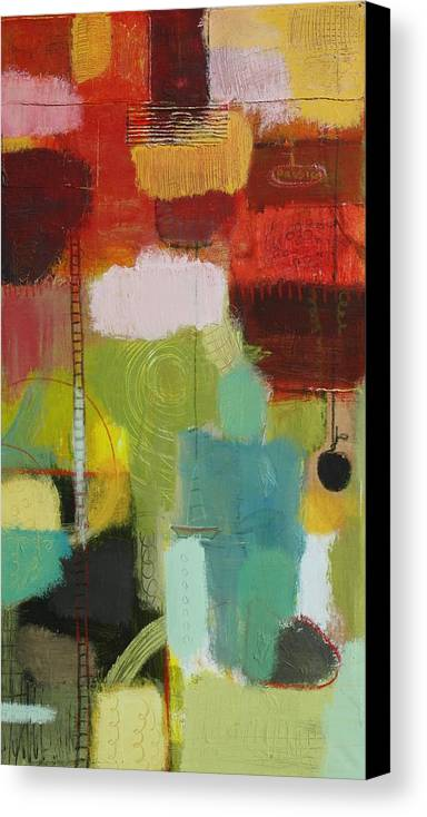 Abstract Canvas Print featuring the painting The Ladder Of Life by Habib Ayat