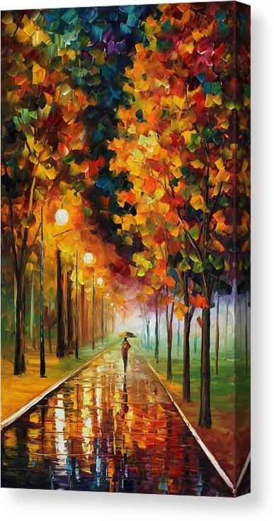 You Can Buy This Painting From This Http://afremov.com/product.php?productid=18608&page=1 Use This 10% Discount Coupon As Well � 45bubble45 Only Today!!!!!! Canvas Print featuring the painting Light Of Autumn by Leonid Afremov