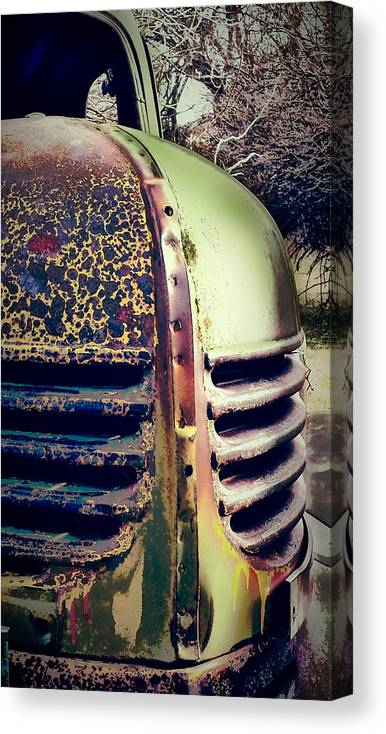 Vintage Automobile Canvas Print featuring the photograph Dayton Truck by Gail Lawnicki