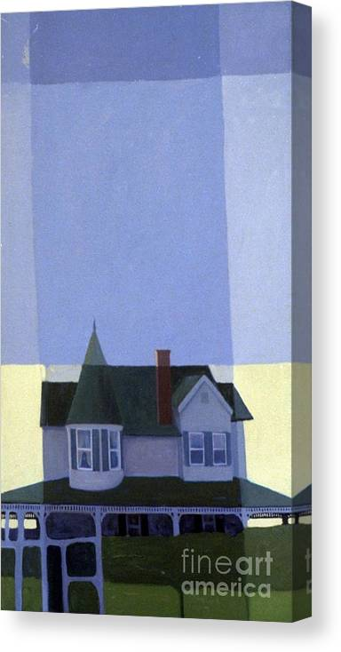 Victorian House Canvas Print featuring the painting Windows by Donald Maier