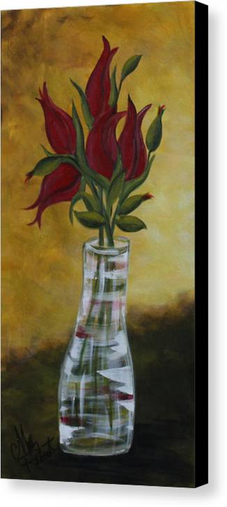 Vase Canvas Print featuring the painting The Vase by Molly Roberts