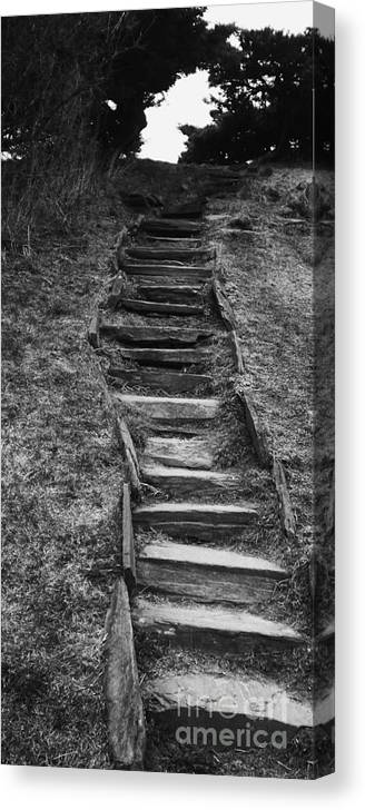 Staircase Canvas Print featuring the photograph The Stone Staircase by Christy Beal