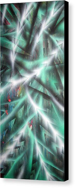 Forest Canvas Print featuring the painting Alien Forest by Leigh Odom