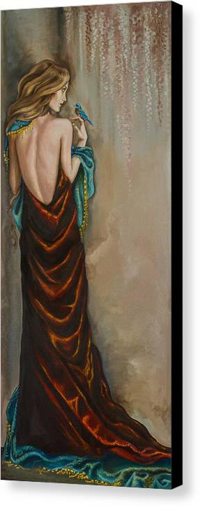 Lady Canvas Print featuring the painting Lady Athena by Ban Markos