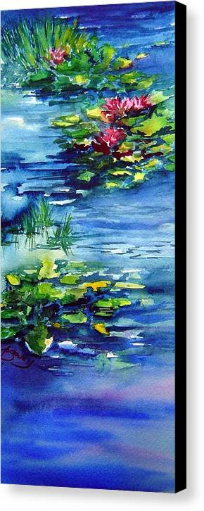 Waterlilies Canvas Print featuring the painting Waterlilies by Joanne Smoley