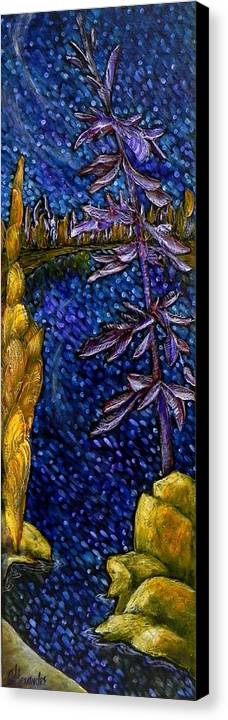 Landscape Canvas Print featuring the painting Acrylic On Canvas by Jill Alexander