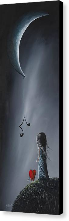 Art Canvas Print featuring the painting They Feel Your Love Song - Surreal Art By Shawna Erback by Shawna Erback