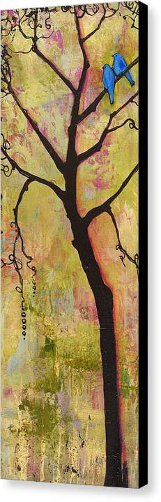 Tree Print Canvas Print featuring the painting Tree Print Triptych Section 1 by Blenda Studio