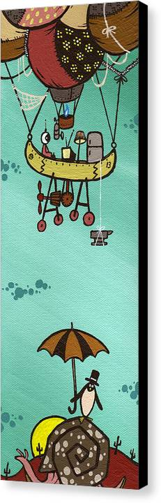 Baloon Canvas Print featuring the painting What Goes Up.... by Dan Keough
