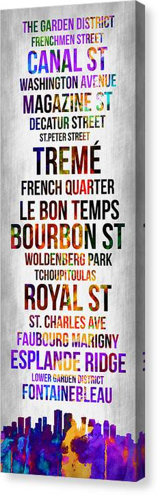 New Orleans Canvas Print featuring the digital art Streets Of New Orleans 1 by Naxart Studio