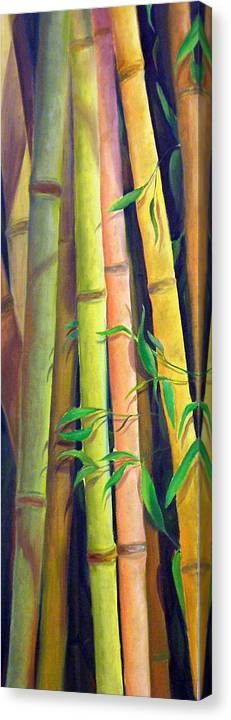 Plant Canvas Print featuring the painting Bamboo by Dorothy Nalls