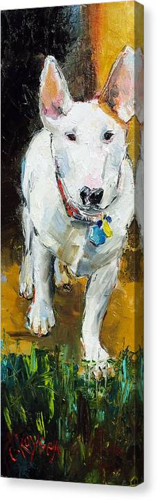 Dog Canvas Print featuring the painting Belle by Claire Kayser