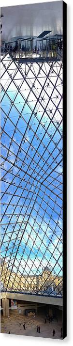 Paris Canvas Print featuring the photograph Backbend In The Louvre by Lexi Heft