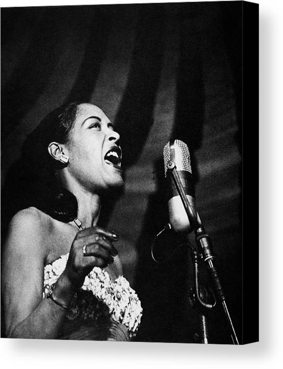 20th Century Canvas Print featuring the photograph Billie Holiday (1915-1959) by Granger