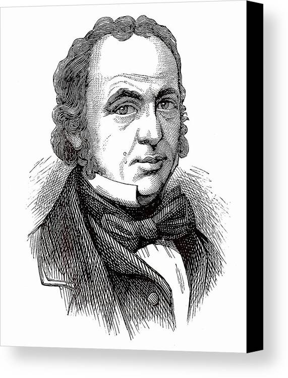 Isambard Canvas Print featuring the photograph Isambard Kingdom Brunel by Universal History Archive/uig