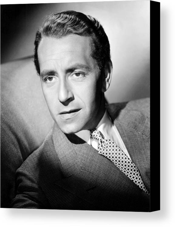 1940s Portrait Canvas Print featuring the photograph Paul Henreid, Ca. Mid-1940s by Everett