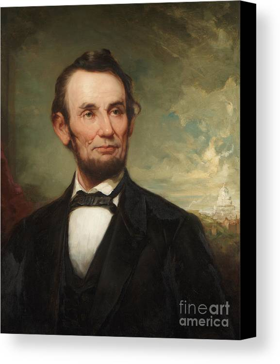 The President Canvas Print featuring the painting Abraham Lincoln by George Henry Story