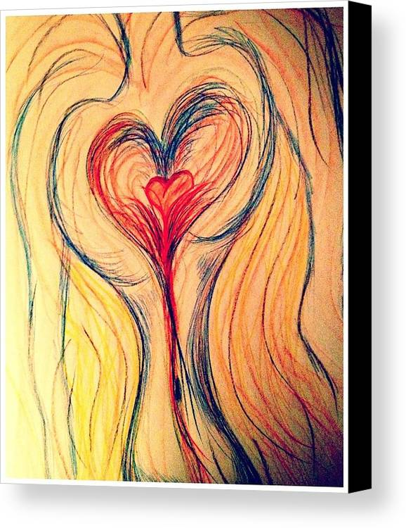 Heart Canvas Print featuring the photograph Art Therapy 184 by Michele Monk
