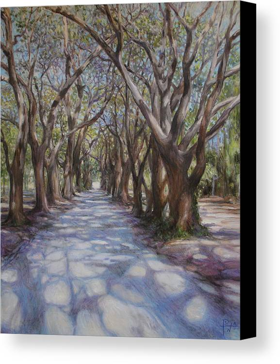 Avenue Canvas Print featuring the painting Avenue Of The Oaks by Henry David Potwin