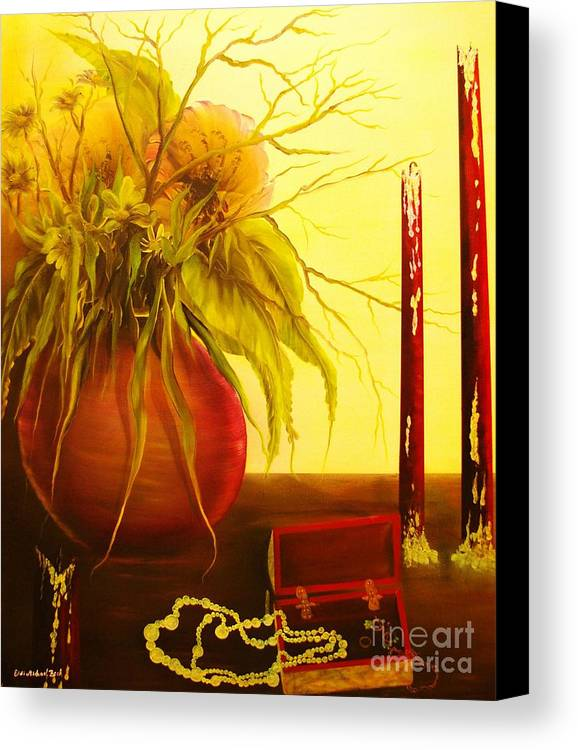 Floral Canvas Print featuring the painting Day After-original Sold-buy Giclee Print Nr 28 Of Limited Edition Of 40 Prints by Eddie Michael Beck
